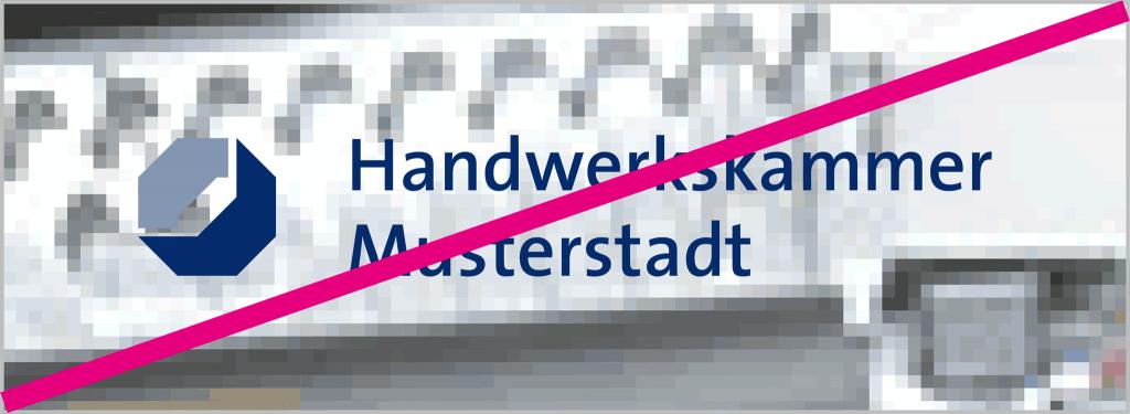 Logo nicht auf Bilder