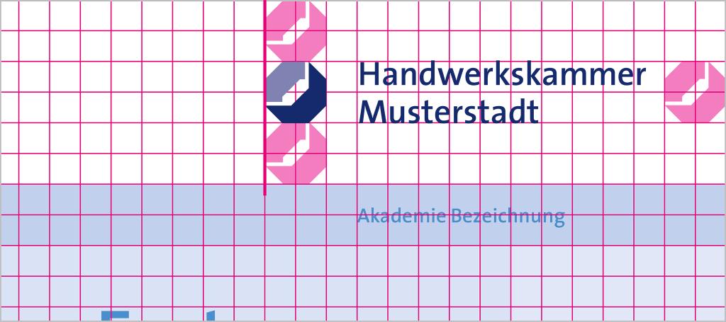 Positionierung mit kurzem Logo