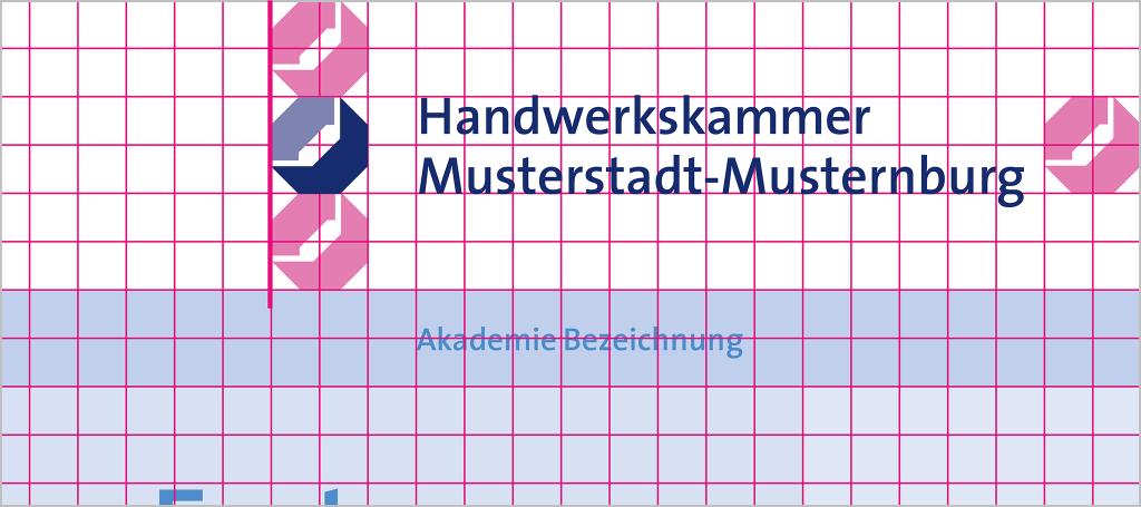 Positionierung mit langem Logo