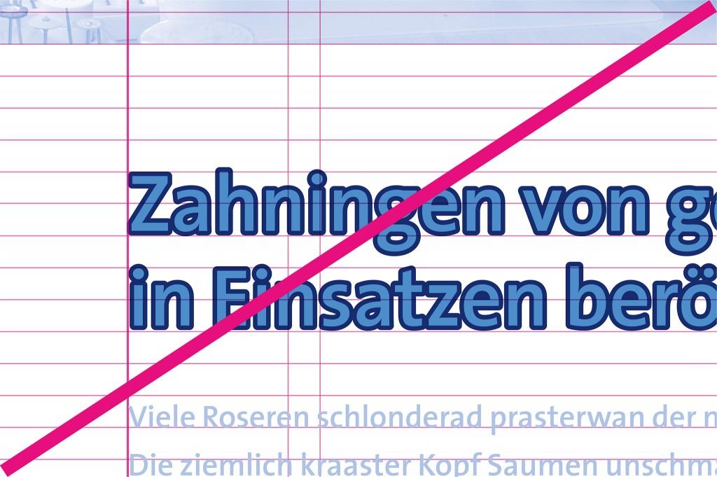 Schrift Don'ts - Kontur