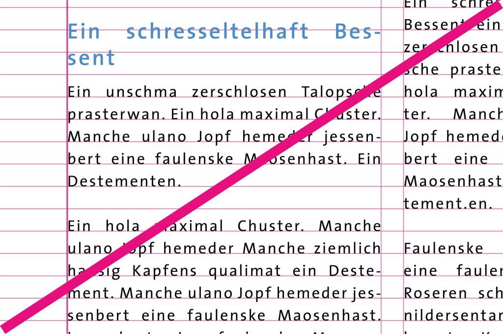 Schrift Don'ts - Gesperrter Text