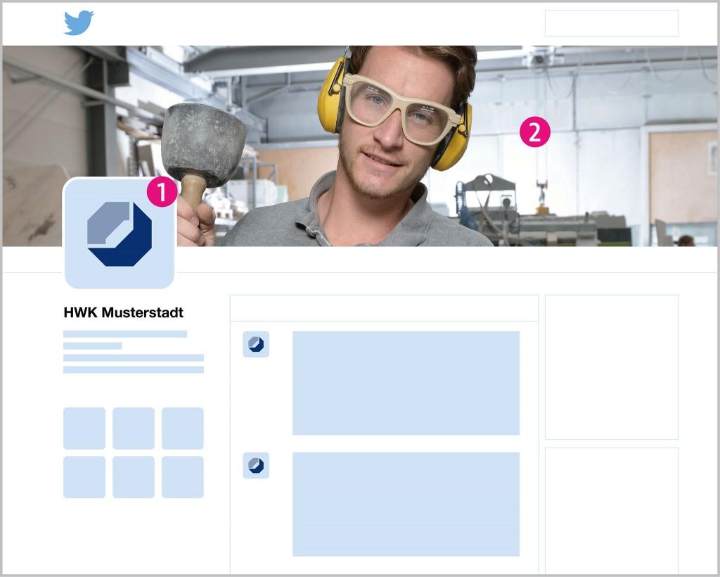 Aufbau der Twitter Profilseite