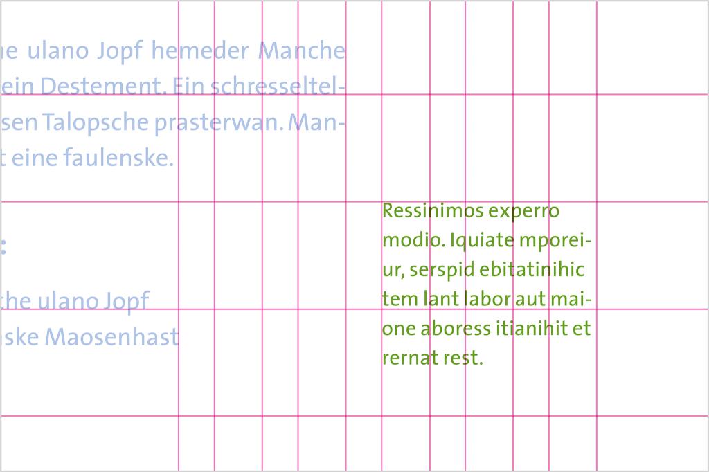 DIN A5 Marginaltext einspaltiger Fließtext