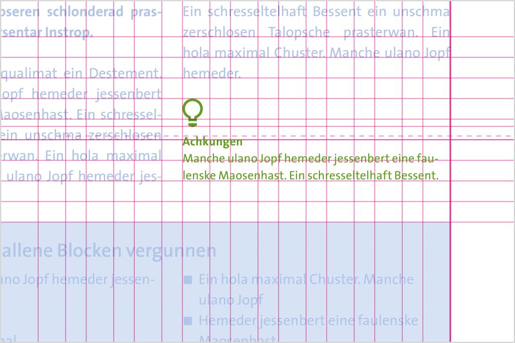DIN A5 Marginaltext zweispaltiger Fließtext